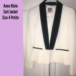 Anne Klein - Suit Jacket / Blazer - White -Size 4P